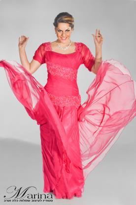 שמלת ערב מקסי שיפון