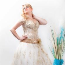 שמלת כלה תחרה שנהב