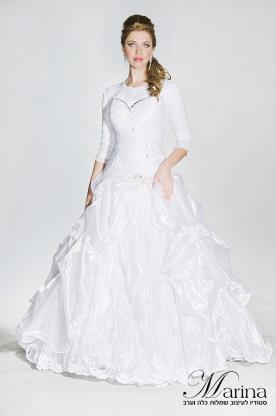 שמלת כלה צנועה ונפוחה