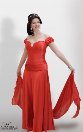 שמלת ערב מקסי חלקה