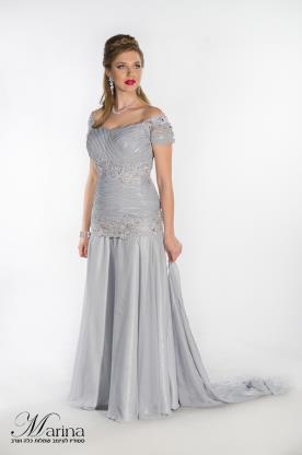 שמלת ערב מקסי תחרה