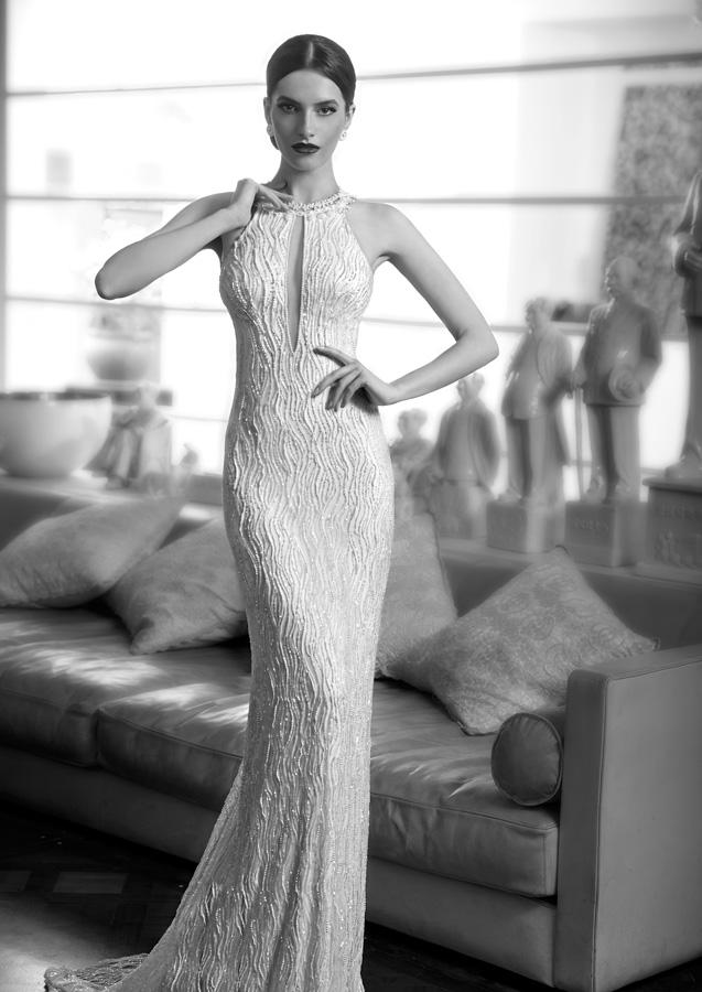 שמלת כלה קולר עם חרוזים