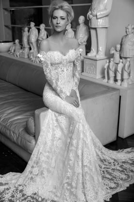 שמלה בדגם אוף שולדרס