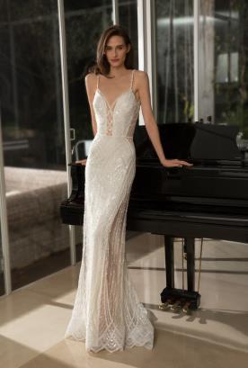 שמלה בשילוב אבני סברובקי עדינים