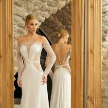 שמלת כלה רומנטית מחשוף עמוק