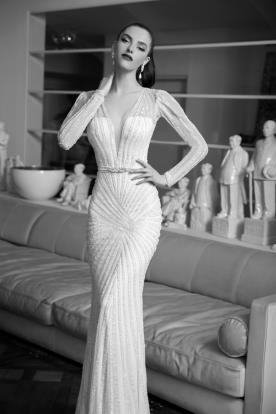 שמלת כלה מרשימה בשילוב חרוזים