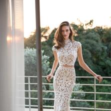 שמלת כלה שני חלקים שרוול קצר