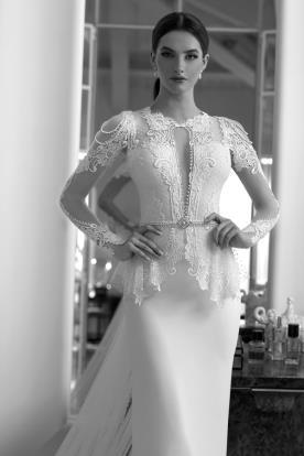 שמלת כלה עם טופ בסגנון וינטג'