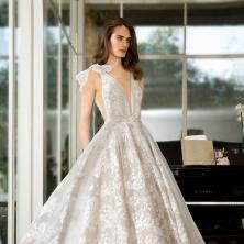 שמלת כלה עיטורים וטול בצדדים