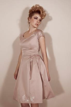 שמלת כלה מיני ורודה