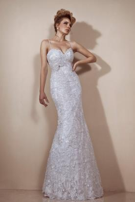 שמלת כלה מתחרה אפרפרה