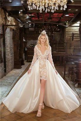 שמלת כלה עם חצאית מיני