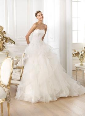 שמלת כלה עם נפח מרשים