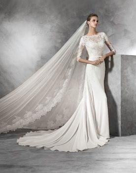 שמלת כלה עם הינומת תחרה