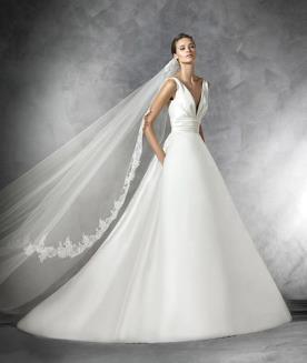 שמלת כלה קלאסית עם כיסים