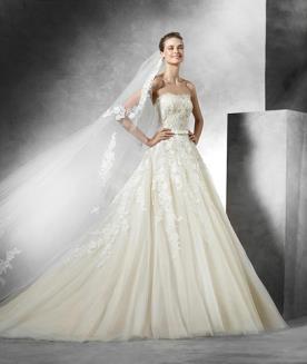 שמלת כלה רומנטית עם פפיון