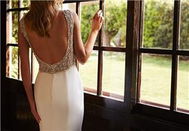 שמלה צמודה גב חשוף