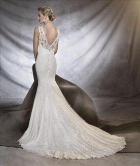 שמלת כלה תחרה ופייטים