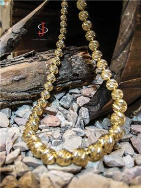 שרשרת זהב צהוב בחריטה ייחודית