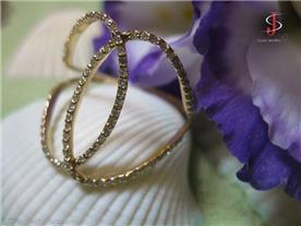 טבעת בשיבוץ יהלומים 2