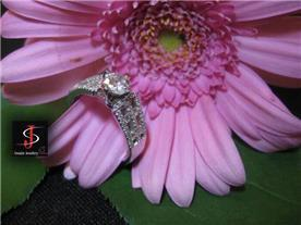 טבעת יוקרתית משובצת יהלומים 6