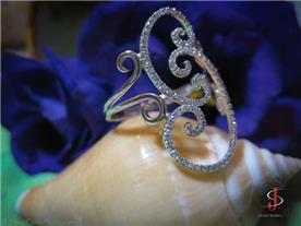 טבעת ים בשיבוץ יהלומים
