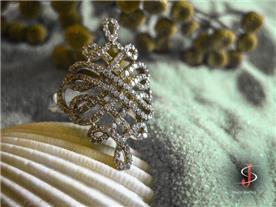טבעת חוף בשיבוץ יהלומים
