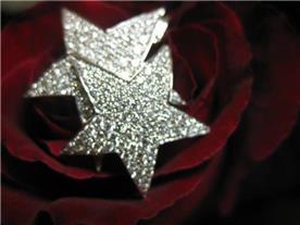 תליון כוכבי ים משובצים יהלומים
