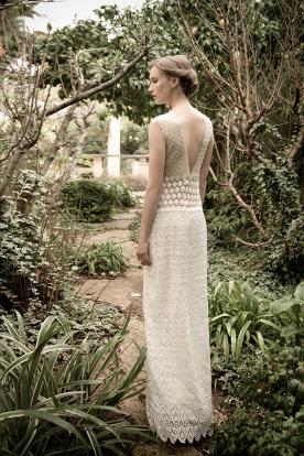 שמלת כלה בד מנוקד