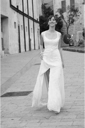 שמלת כלה כפרית עם תחרה