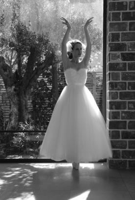 שמלת כלה רומנטית טול מכווץ