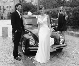שמלת כלה לבנה מסאטן