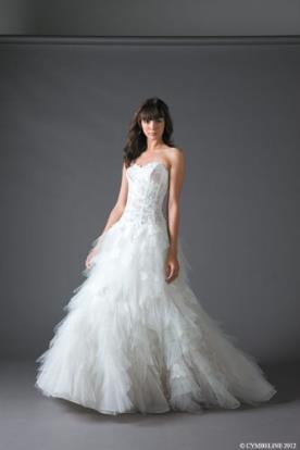 שמלת כלה רומנטית עם מחוך תחרה