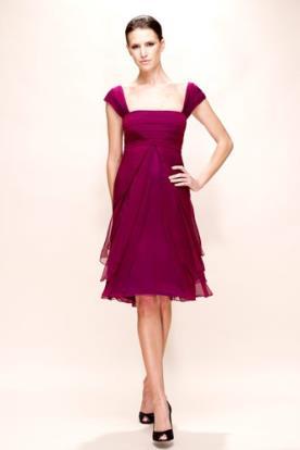 שמלת ערב מיני בורדו