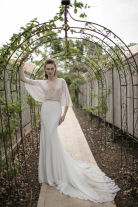 שמלת עטלף רומנטית לכלה