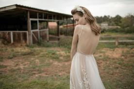 שמלת כלה  שיפון עם גב פתוח