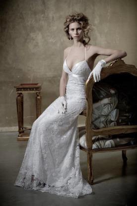 שמלת כלה קולר בגזרת אמפייר