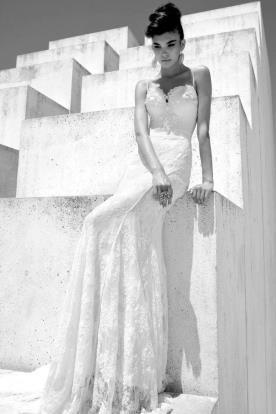 שמלת כלה מרשימה עם גימור תחרה