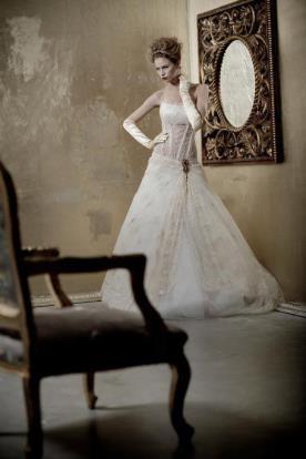 שמלת כלה וינטאג עם עיטור