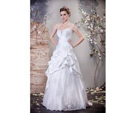 שמלת כלה מחוך סטרפלס סאטן