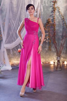 שמלת ערב מידי אסימטרית