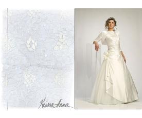 שמלת ערב צנועה שרוולון משי