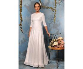 שמלת כלה צנועה שרוול עד המרפק