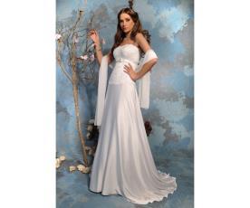 שמלת כלה טופ תחרה עם חגורה