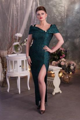 שמלת ערב מחשוף אסימטרי