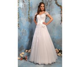 שמלת כלה רומנטית שרוול קצר