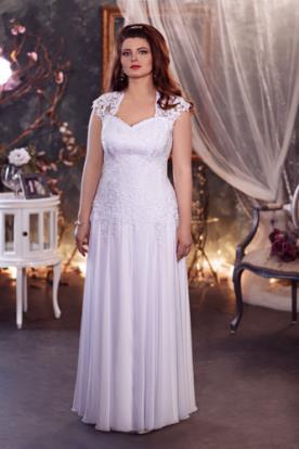 שמלת כלה עדינה מחוך תחרה