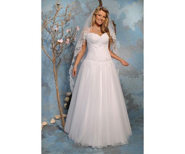 שמלת כלה חגורת פרחי תחרה
