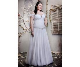 שמלת כלה רומנטית חצאית כיווצים