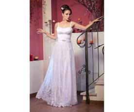 שמלת כלה טופ משי חצאית תחרה
